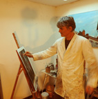Hugues Renck dans son atelier